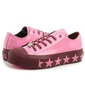 Converse Miley Cyrus Pink/Burgundy Platforms B9